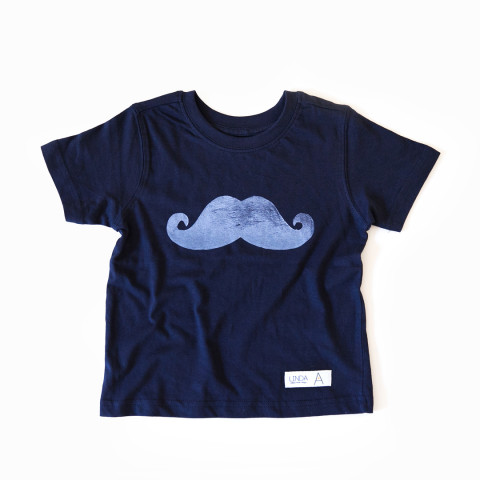 Handprinted Moustache Kids T-Shirt
