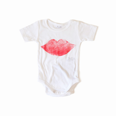 Handprinted Bodysuit Lips